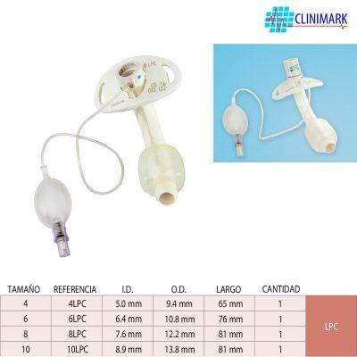 Cánula shiley de traqueostomía, estándar con balón LPC