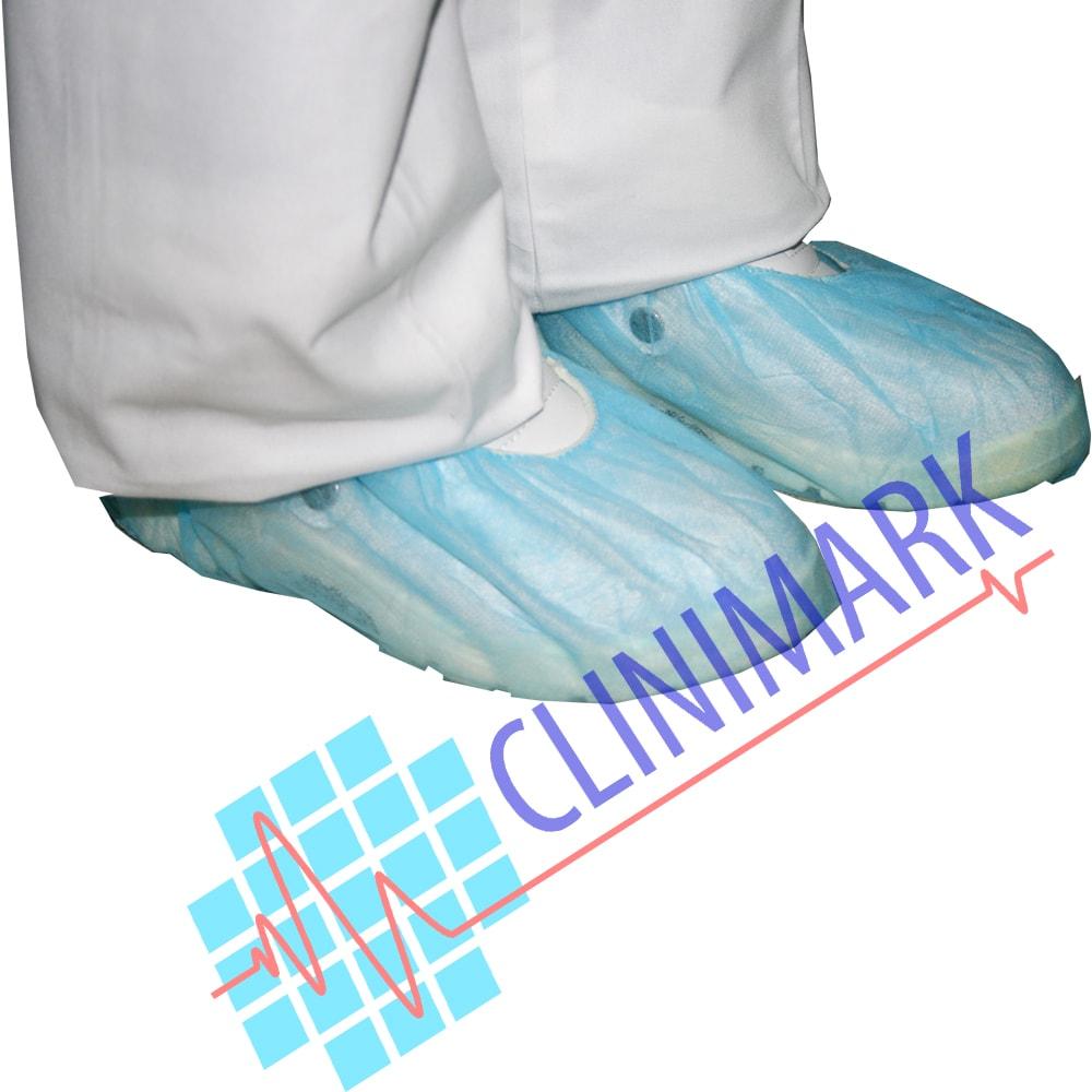 calza tejido sin tejer desechable color azul