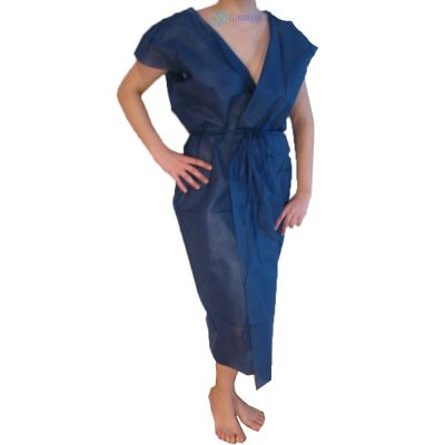 casaca bata azul de 40 gramos desechable Unidix