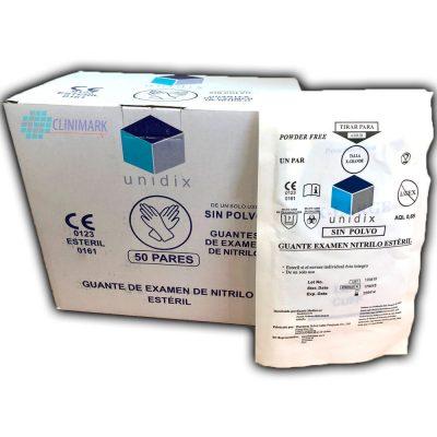 e0415d6bea2eb Guante examen de nitrilo sin polvo estéril Unidix ®