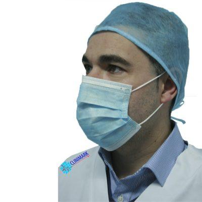 e88368fc64e48 Mascarilla de cirujano de 3 capas con gomas Unidix ®