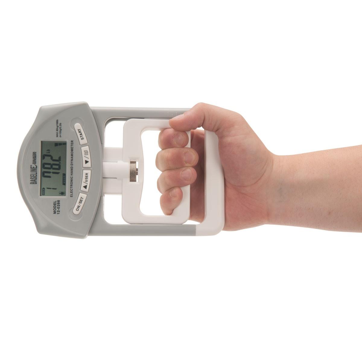 Dinamómetro digital para agarre mano